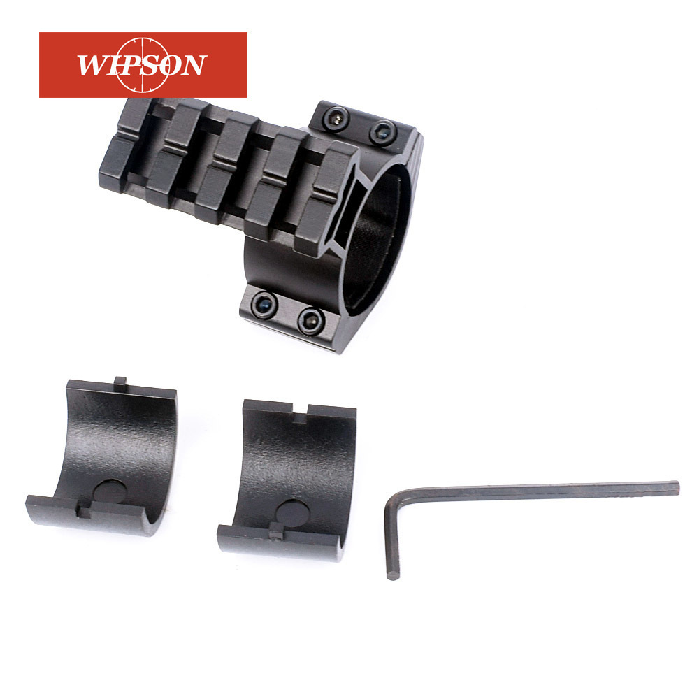 WIPSON 1pc Rifle Scope Mount Barrel 1/ 25.4mm 30mm Ring Adapter w/ 20mm Scope Weaver Picatinny Rail Mount with Insert caza rbo 1 25 5x26 rifle scope 30mm scope ring mount weaver mount rifle scope rbo m2048