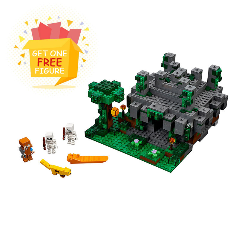 Bela Pogo Compatible Legoe 604pcs+ Minecraft My World Building Blocks Bricks  Educational Hobbies For Children toys for children ausini95 automatic rifle military arms building blocks educational toys for children plastic bricks best friend legoe compatible