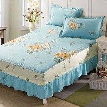 Нескользящие наматрасник хлопка юбка кровать юбки покрывало постельные принадлежности, домашний текстиль Твин Полный queen King size 200X220 см