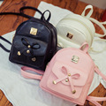 Novo saco de mini mochilas Arco PU de couro mochilas para as meninas das mulheres Bonito sacos mochila para adolescentes sacos de volta Novo