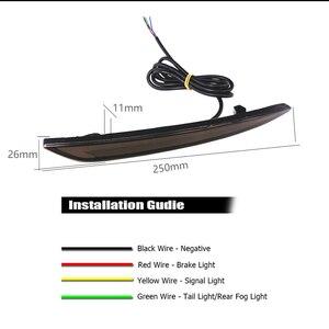 Image 4 - JDM נוזל סגנון LED פגוש רפלקטור זנב אורות עבור 2013 עד פורד Fusion מונדיאו זנב אורות & בלם אורות ולהפוך את אות אור