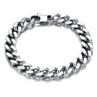 Cool Man Bracelets Fashion 316L Stainless Steel Chunky Link Chain Classical 22.5cm/21.5cm/20.5cm 1