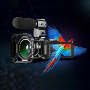Image 4 - プロ 4 3k フル hd wifi ナイトショットビデオカメラビデオカメラ 3.1 タッチスクリーン内蔵マイク屋外旅行使用