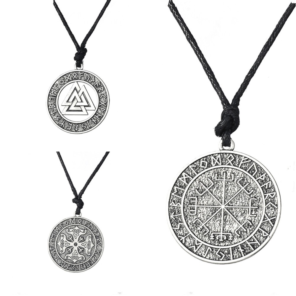 Dawapara Valknut Odin's Symbol of Norse Cross Runes Jewelry Warrior - Fashion Jewelry - Photo 2