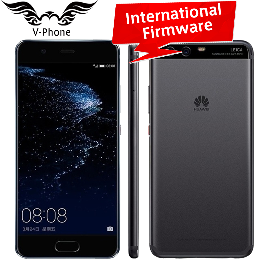 Original HuaWei P10 Plus 4G LTE Mobile Phone 5.5 inch Kirin 960 6GB RAM 64/128GB ROM Android 7.0 2K 2560x1440 20.0MP Fingerprint