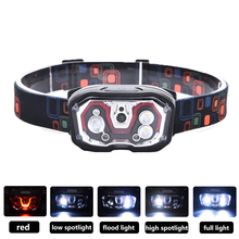 Zure Bright 300 Lumens LED Headlamp Flashlight for Running 5 Lighting Modes Head Lamp Adults USB Rechargeable
