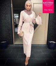 Мусульманский взрослых Мода плиссированные мусульманская одежда Турецкий Дубай динамик рукавом Абая Мусульманский халат арабский поклонение услуги wj1867 оптовая продажа