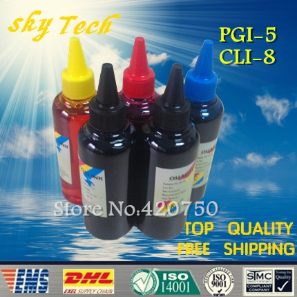 ФОТО Dye refill ink , replacement ink  suit for Canon  PGI5 CLI8 series cartridges,suit  for the canon IP4200 IP4500 IP4300