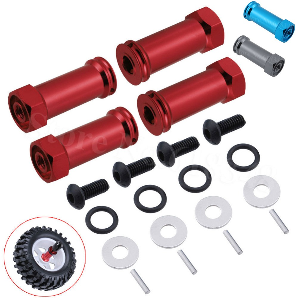 12mm to 17mm Alloy Wheel Hex Hub Adapter Extension 30mm for 1:10 RC Car