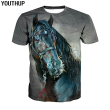 YOUTHUP 2018 Horse T shirt For Men 3d Print Animal Shirt Casual Fashion Short Sleeve Cool Tees Tops Streetwear