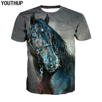 anime animal 3d t shirt men summer funny tshirts 3d print wolf t shirt streetwear short sleeve high quality casual o neck tees YOUTHUP 2020 Horse T shirt For Men 3d Print Animal T Shirt Casual Fashion 3d T Shirt Short Sleeve Cool Tees Men Tops Streetwear