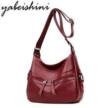 YABASHINI brand women leather Top-handle bags handbags women famous brands female casual shoulder bag Tote for girls Sac a Main