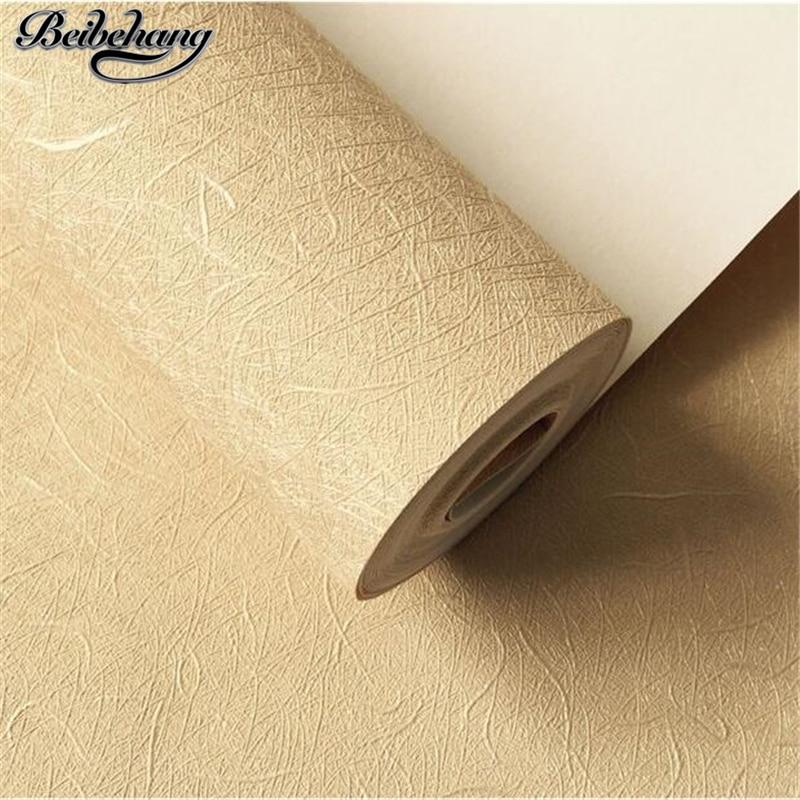 beibehang papel de parede Waterproof PVC plain solid color 3d silk wallpaper European living room hotel office works wallpaper beibehang papel de parede solid