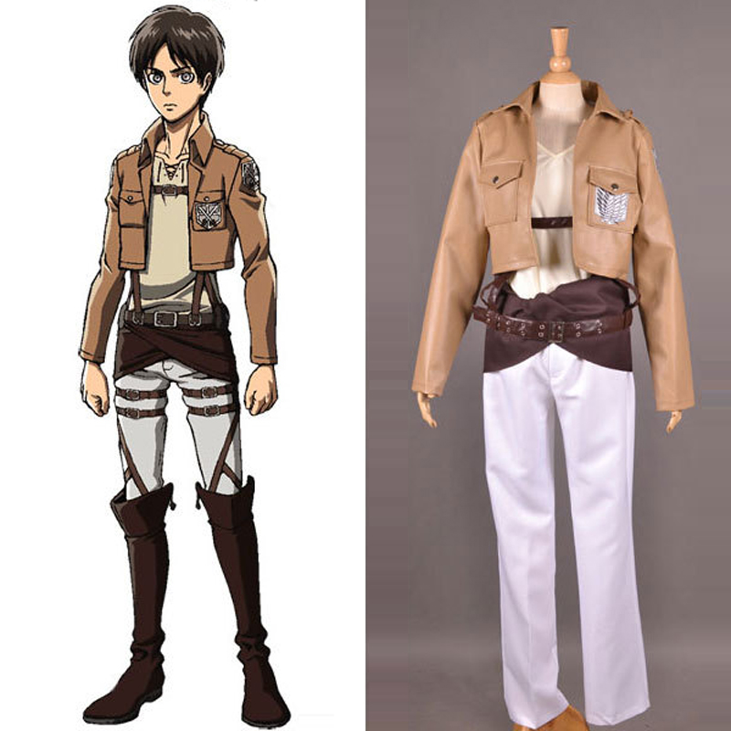 Anime Attack on Titan Shingeki no Kyojin Training Corps Eren Jaeger Cosplay Costume Survey Corps Jacket Coat Custom Size