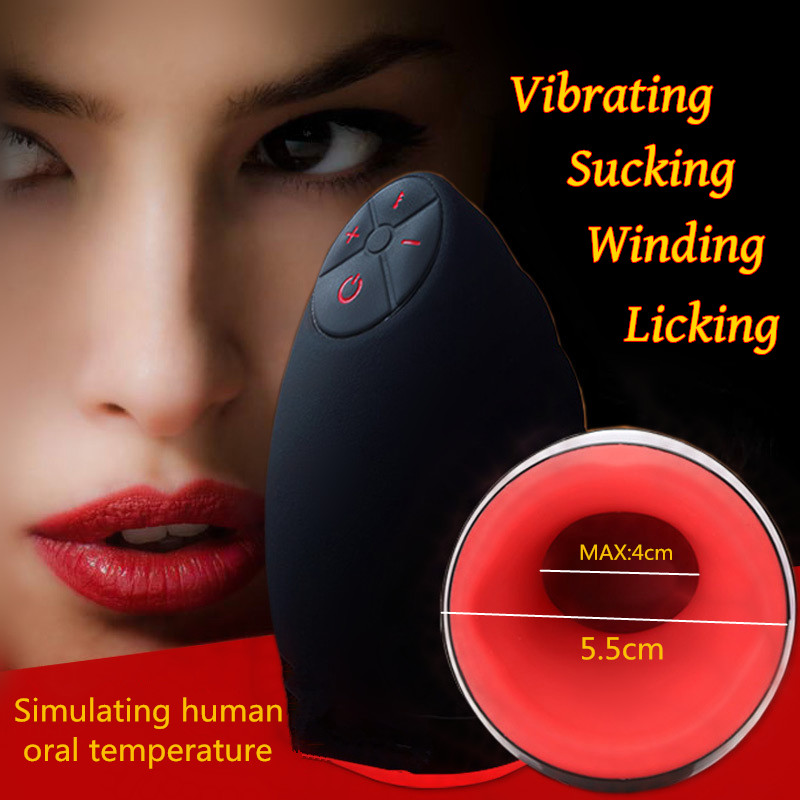 Sexo Electric Lick Suck Automatic Oral 6 Speeds Vibrator Intelligent Heat Sex Machine Male Masturbator Cup Adult Sex Toy For Men salter air fryer home high capacity multifunction no smoke chicken wings fries machine intelligent electric fryer