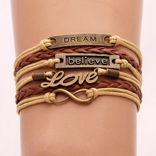 7 Design Multiple Layers Bracelets For Women Vintage Love Bird Friendship Wrap Bracelets Charms 2019 New Fashion Jewelry Femme(China)