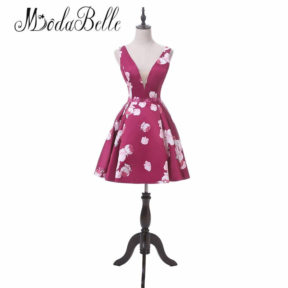 Modabelle 2018 Vintage Floral Blau Homecoming Kleider Kurze Junioren ...