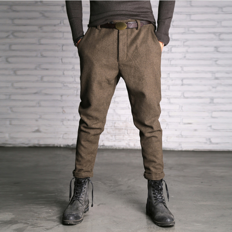 2017 Men Casual Cotton Slim Fitness Trousers Men Solid Color Straight High Quality Hot Sale Long Pants Men Fashion England Style