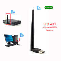NEUE MT7601 MTK7601 150M Externe USB WiFi Adapter Antenne Dongle Unterstützung DVB S2 T2 T V6 V7S HD V8 f6S V8S PLUS Set Top TV Box PC