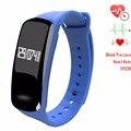 Newyes nbs04 azul gimnasio rastreador monitor de presión arterial de smart watch manera libre del envío