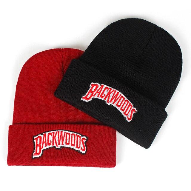 חדש כפת מותג יערות מכתב סרוג חורף כובע כותנה גברים נשים אופנה סרוג חורף כובע היפ הופ Skullies כובעים