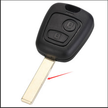 NEVERLAND for Peugeot 106 206 306 406 Key Shell 2 Button NE73 Blade Replacement Remote Control Car Cover Case keyyou 2 buttons remote auto car key case shell key cover uucut blade for peugeot 106 206 306 406