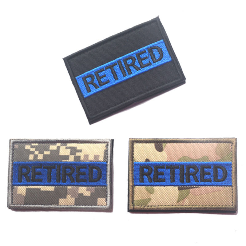 High Quality Embroidered Epaulettes Magic Stickers Chest Strips English Letters Skull Patch Badges for Backpacks Brooch Banner in Badges from Home Garden