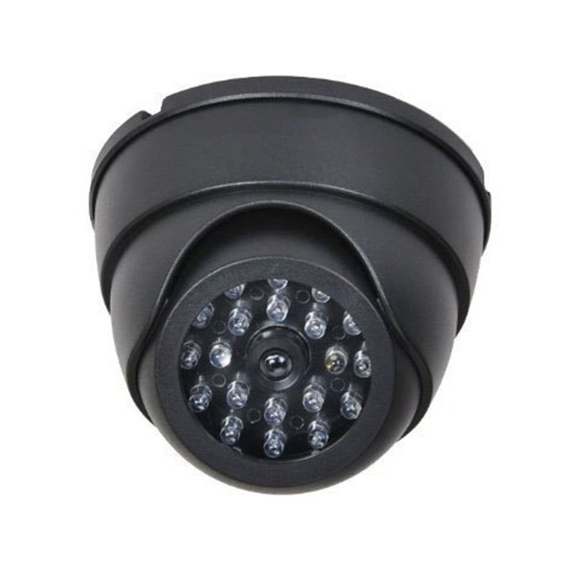 Outdoor Fake Camera CCTV Fake Simulation Dummy Camera Home Surveillance Security Dome Camera Flashing LED Light outdoor fake camera indoor fake surveillance camera dome cctv security camera with flashing red led light for home and office