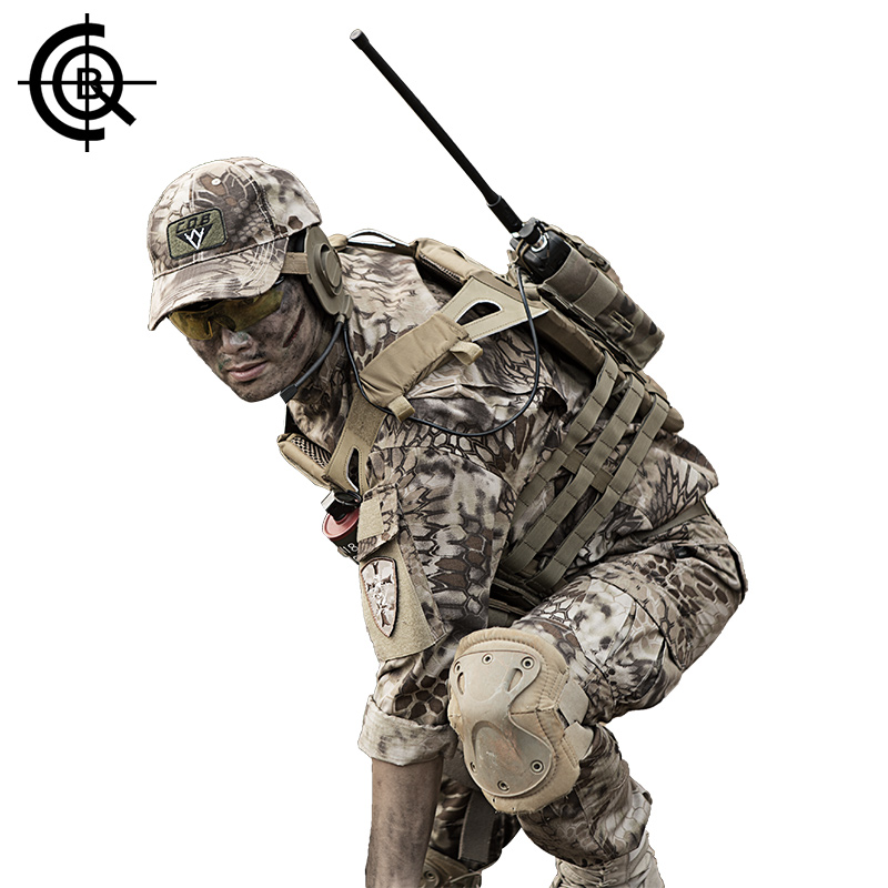 CQB Military Camouflage Suit Jacket Men Hunting Clothes US Army Tactical Uniform Men Camouflage Big Size Suit CYF0695 spring autumn military camouflage army uniform ghillie suit jacket and trousers hunting clothes with cap face mask for hunting