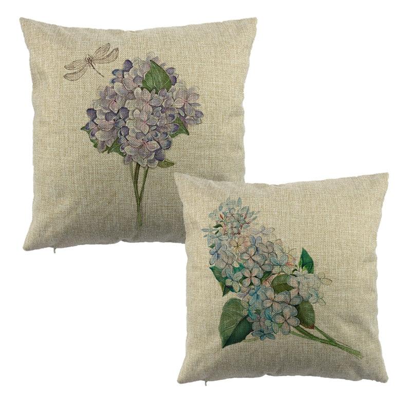 Beautiful Floral pattern print home decorative throw pillow case decorate sofa cushion cover 40x40cm 45x45cm