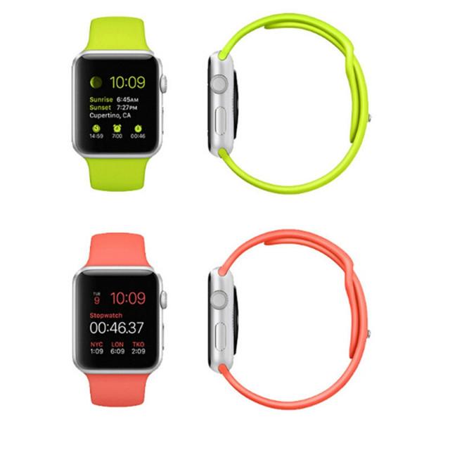 Moda pulseiras de silicone para a apple watch relógio strap esporte edição azul branco preto verde vermelho 38mm 42mm cinta esporte