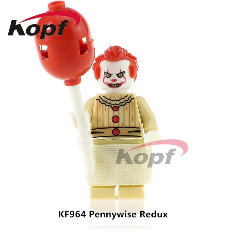 50Pcs Super Heroes The Clown Pennywise Redux Classic Ronald McDonald Mr. Kentucky Bricks Building Blocks Toys for children KF964 ...