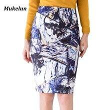 Plus Size Womens Pencil Skirt 2018 Spring Summer Elegant Women Slim Skirt Printed Sexy Office Ladies Mini Skirts S-5XL