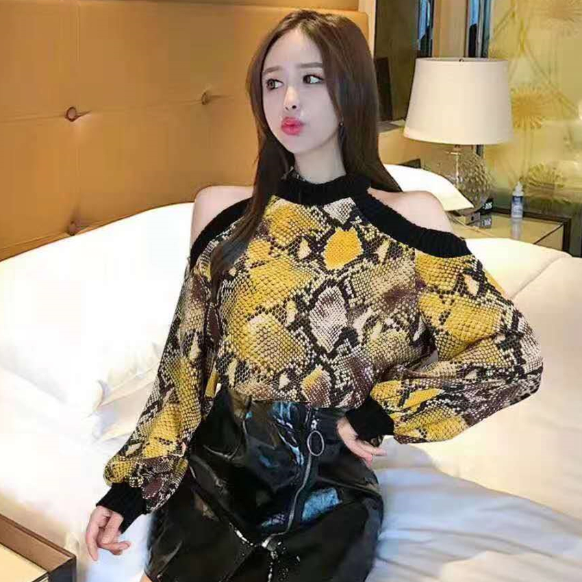 Leopard Blouse Long Sleeve Chiffon Shirt Women Sexy Off Shoulder 2019 Spring Ladies Top Blusas Mujer Verano Tunic Tops Plus Size 6