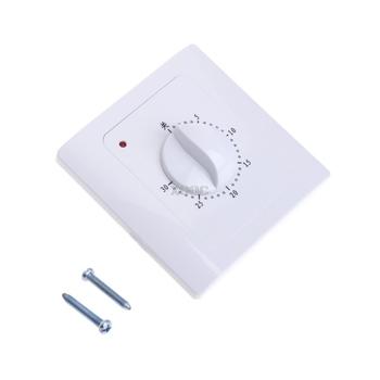 AC 220 V 10A 30Min wyłącznik czasowy zegar odliczający elektryczny czas cyfrowy wtyczka przycisk sterowania pokrętło styl przełącznik mechaniczny M13 dropship tanie i dobre opinie OOTDTY CN (pochodzenie) Timers Kuchnia Odliczanie Mini