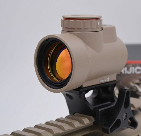 2 couleurs MRO Style Red Dot Sight Holographique Sight pour Airsoft Noir Bas montage + QD montage avec En Plastique Cadeau boîte