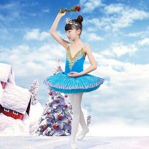Image 2 - 2020 new Professional Ballet Tutu Child Swan Lake Costume White Red Blue Ballet Dress for Children Pancake Tutu Girls Dancewear