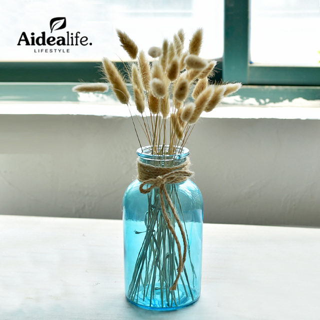 Modern Colored Glass Table Flower Vases Plant Container Vases For