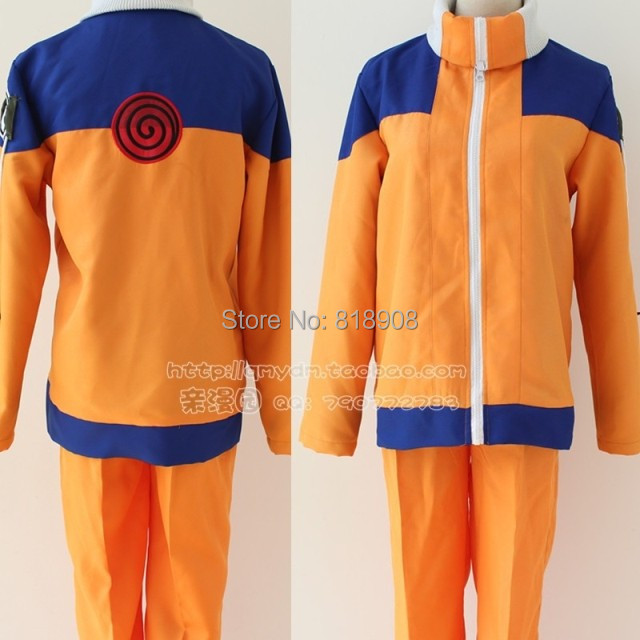 naruto Uzumaki Cosplay Halloween party cosplay costume for man and women clothes