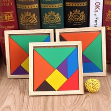 New Hot Sale Children Mental Development Tangram Wooden Jigsaw Puzzle Educational Toys for Kids