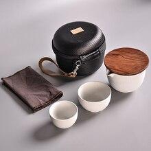 TANGPIN ceramic teapots gaiwan teacups chinese teaware portable travel tea sets with travel bag