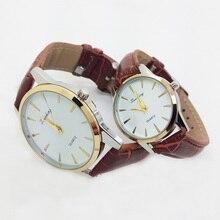 2016 Classic Couple Quartz Watch Men Wrist Watches Ladies Wristwatch Female Clock Montre Homme Quartz-watch For Lovers