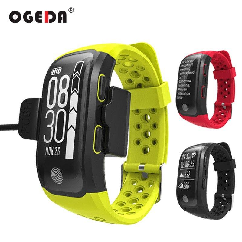 OGEDA Hommes de Remise En Forme Intelligente Montre la Fréquence Cardiaque Dynamique IP68 Étanche GPS Intelligent Montre-Bracelet Bracelet Tracker Intelligent Horloge Montres S908