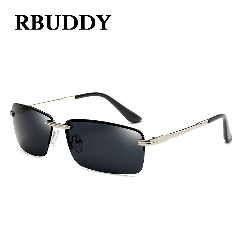 RBUDDY Men sunglasses luxury brand 2017 Summer polarized Metal Frame Rectangle Lens Gold Driving Sun Glasses Oculos De Sol 2017