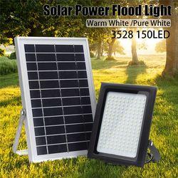 150LED Solar Betriebene Scheinwerfer Motion Sensor Radar Induktion Lampe + Lichter Control Wand Lampe für Outdoor Garten Pfad Wasserdicht