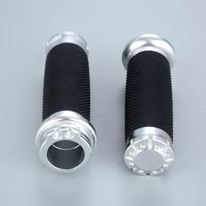 "Image 3 - 25mm 7/8"" Motorcycle Handlebar Hand Grips Aluminium Rubber Lining Fit For Honda Yamaha Suzuki Kawasaki"