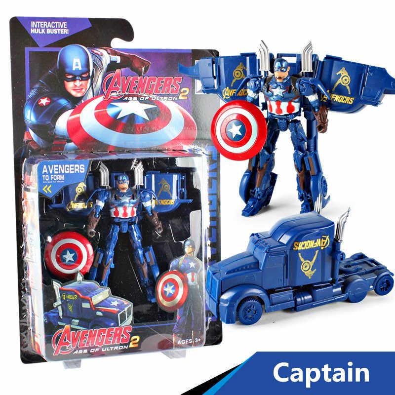 Marvel The Avengers Iron Man Captain America Thor Hulk Hành Động Hình Đồ Chơi Biến Dạng Trẻ Em Trẻ Em Xe Đồ Chơi Xe Hơi