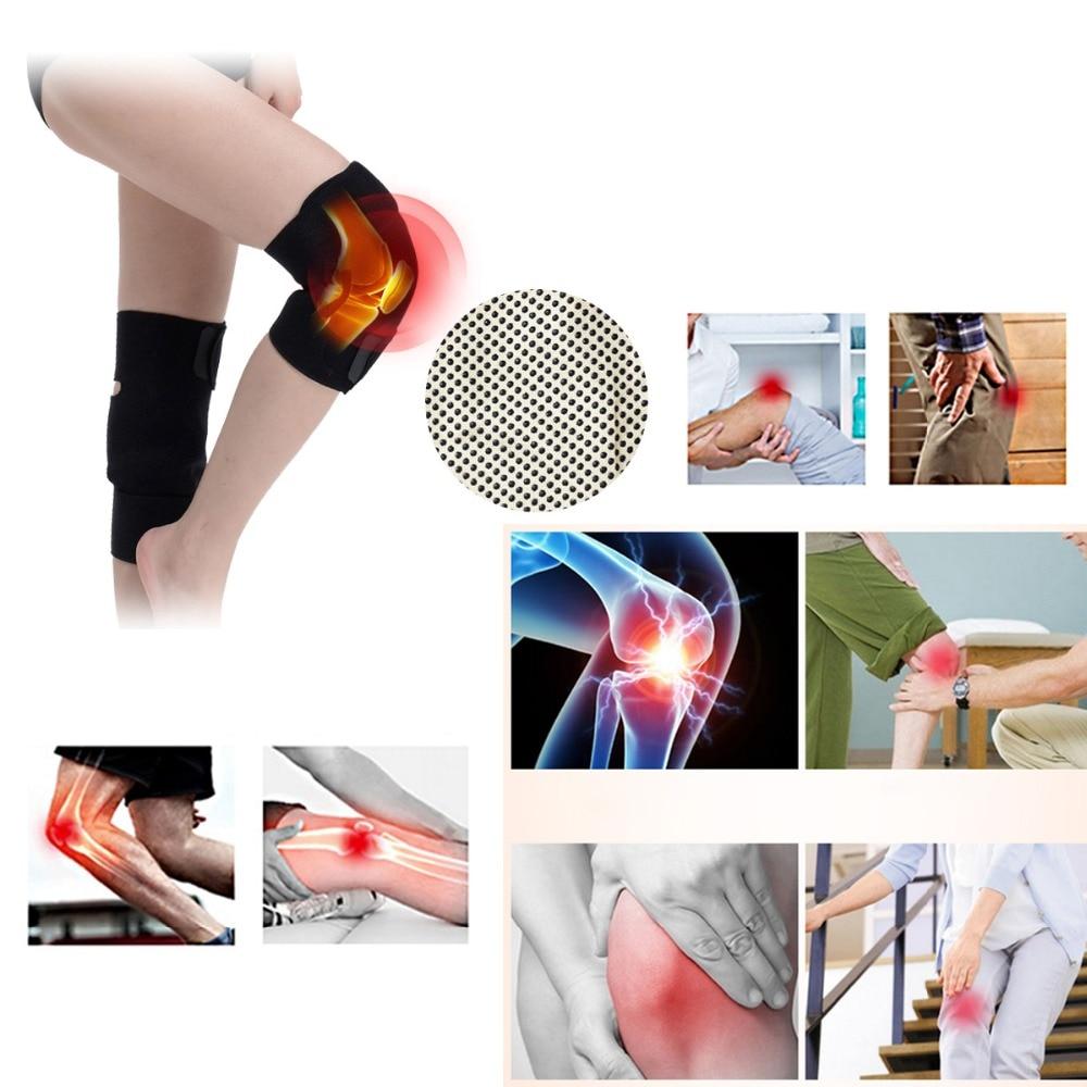 100 par/pack cinturón de turmalina autocalefactor rodillera terapia magnética rodilla soporte de turmalina cinturón calefactor masajeador de rodilla - 4