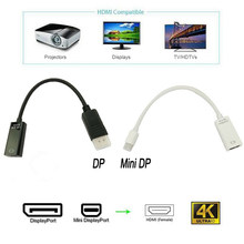 Novo ativo dp displayport macho para hdmi adaptador cabo suporta ultra hd 4k2k porta cabo conversor switcher para hp dell macbook(China)