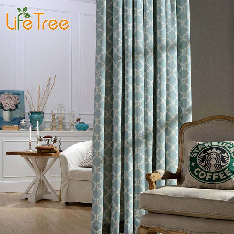 Chinese Lantern Printed Modern Blackout font b Curtains b font For Living Room Bedroom Window font